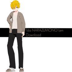 Tda Narazumono Len + DL [Neet Side] by RinTheSkeletwin on DeviantArt