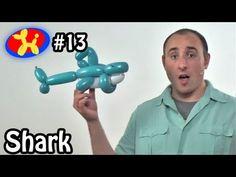 Three Balloon Shark  - Balloon Animal Lessons #13