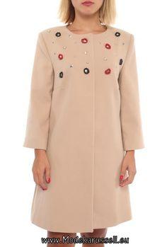 Damen Designer Mode Mantel Estelle Beige