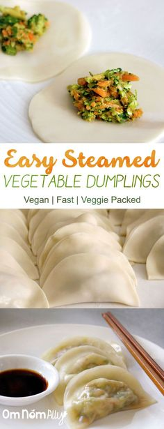 Easy Steamed Vegetable Dumplings @OmNomAlly More