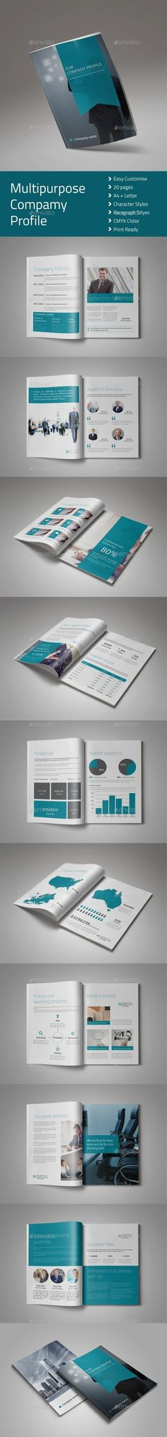 Modern Company Profile Brochure Company profile, Brochure - company profile templates word