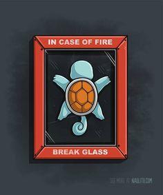 Romper en caso de incendio.