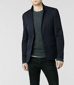 Mens Quesnel Jacket (Ink)   ALLSAINTS.com