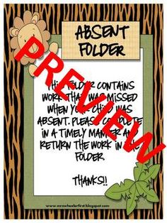 Welcome to the jungle! Don't miss out on this great classroom label set! Over 100 pages included! Surround your classroom with print to give your s...