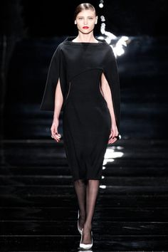 Reem Acra Fall 2013 Ready-to-Wear Collection Slideshow on Style.com - Liked the unusual cut on the cape.