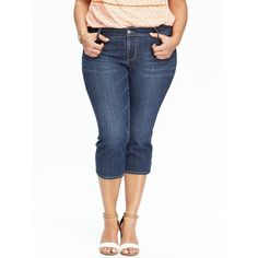 maurices Plus Size - Denim Flex ™ Dark Wash Destructed Capri ($40 ...