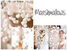 One word: Marshmallows. | 32 Unbelievably Cheap And Beautiful DIY Photo Backdrops