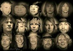 Through the years Axl Rose, Guns N Roses, Metal Bands, Rock Bands, Rose Williams, Welcome To The Jungle, This Is Love, Rock Legends, Most Beautiful Man