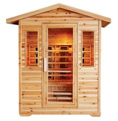 The Cayenne infrared sauna is perfect for your patio or deck. 8 rapid heat ceramic heaters will quickly get the sauna to your desired temperature. The Cayenne outdoor sauna has a long bench seat Canadian Hemlock, Barrel Sauna, Outdoor Sauna, Outdoor Forts, Outdoor Decor, Steam Sauna, Dry Sauna, Electrical Safety, Long Bench