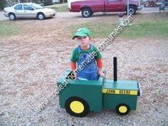 DIY John Deere Tractor Child Halloween Costume Idea