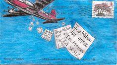 Airplane mail art. pushing the envelopes More