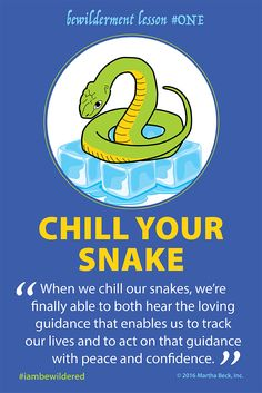 Imagine your own reptile brain as an actual  snake that slooooows down when it is cold, you will feel how chillin' your snake provides immediate relief from anxiety and the fear and trepidation that created it. When we chill our snakes, we're finally able to both hear the loving guidance that enables us to track our lives and to act on that guidance with peace and confidence. Toss your snake in the cooler so that you can hear your spiritual GPS and handle the twists and turns of your true…
