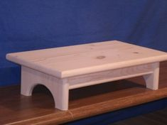 wood step stool wooden step stool 4 unfinished by BeckyShelves