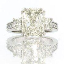 7.03ct Radiant Cut Diamond Engagement Anniversary Ring