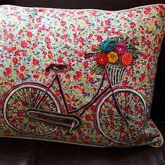 Bicycle Shabby Chic Cushion♥♥♥♥♥