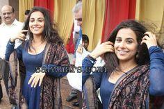 Vidya Balan in Blue Palin Salwar Kameez
