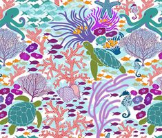 Bustling Reef fabric by shellypenko on Spoonflower - custom fabric