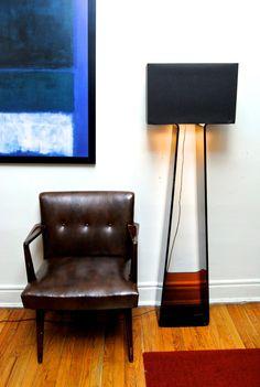 Pablo Tube Top floor lamp, Knoll slipper chairs