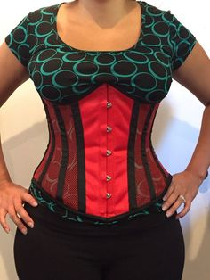 3acb659342 345 Authentic Red Mesh 22 Inch Underbust Corset Steel Boned  Undisclosed   LaceUp Found someone