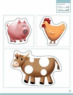 Kids-n-fun.com | Crafts Paper Models Farm Animals