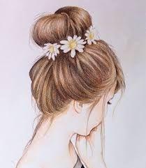 Super flowers in hair art paintings ideas Girls With Flowers, Flowers In Hair, Crown Hairstyles, Trendy Hairstyles, Drawing Hairstyles, Hairstyles Haircuts, Pretty Hairstyles For School, School Hairstyles, Wall Painting Flowers