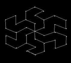 Join dots as shown in the above picture. Draw thick lines and leave as it is or fill with des.