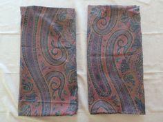 Ralph Lauren One pair Pillowcase King Greycliff Paisley Sateen Made in USA #RalphLauren #FrenchCountry
