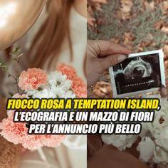 """""""Una femminuccia!"""". Fiocco rosa a Temptation Island, l'ecografia e un mazzo di fiori per l'annuncio più bello"""