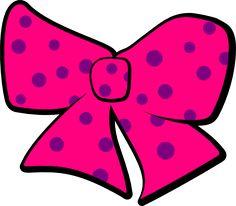 Bow With Polka Dots clip art