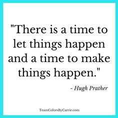 Are you making things happen?