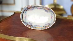 Teresa Welch, The China Closet, IGMA fellow - porcelain hand painted oval bowl