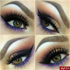 Gorgeous! Maybe do as Wedding make-up to match Bridesmaids' dresses