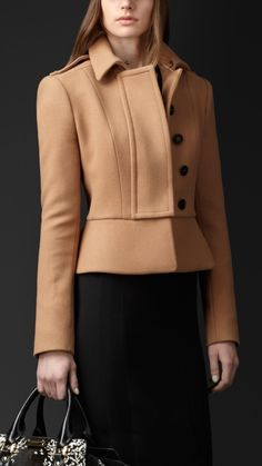 Explore all women's clothing from Burberry including dresses, tailoring, casual separates and more in both seasonal and runway designs Coats For Women, Jackets For Women, Clothes For Women, Look Blazer, Peplum Jacket, Burberry Jacket, Look Fashion, Fashion Design, Latest Outfits