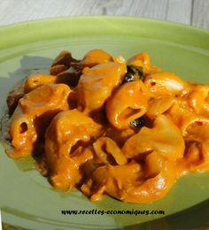 Une recette au thermomix : des pates sauce tomate et thon, une sauce onctueuse qui enveloppe parfaitement les pâtes, idéal pour les enfants. Un plat complet, rapide.