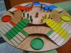 The 7 Most Thrilling Board Games From Around The World Wooden Board Games, Wood Games, Diy For Kids, Crafts For Kids, Stuffed Animals, Board Game Template, Kids Toilet, Diy Games, Table Games