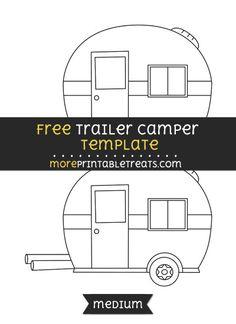 Free Trailer Camper Template - Medium
