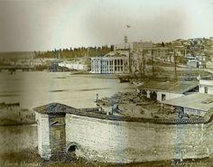 Eski İstanbul / Kasımpaşa Bahriye Nezareti (Kuzey Deniz Saha Komutanlığı) ve Tersane  Basile Kargopoulo Fotoğrafı