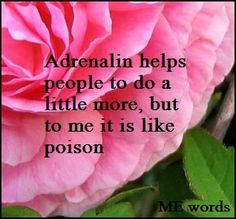 Adrenalin helps people to do a little more, but to me it is like poison