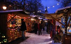 """In the center of Bulle on the main street and on the """"Place du Marché"""", discover the """"chalets"""" of the Christmas Market. Main Street, Street View, City Streets, Fair Grounds, Marketing, Winter, Places, Sat, Christmas"""