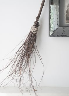 Erin Souder creats a super easy and (almost) free DIY witch broom for a subtly spooky halloween.