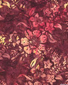 Monterey Balis - Lattice Bouquet Batik - Marsala