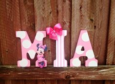 Decor Minnie Mouse Bedroom Decor For The Simple Decor On A Wooden Wall With Writing MIA Minnie Mouse Bedroom Decor for Little Girl's Room