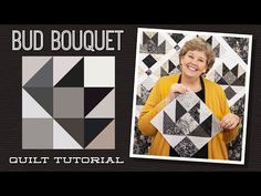 """Make a """"Bud Bouquet"""" Quilt with Jenny Doan of Missouri Star (Video Tutorial) Jenny Doan Tutorials, Msqc Tutorials, Quilting Tutorials, Quilting Ideas, Hans Moser, Missouri Quilt Tutorials, Charm Pack Quilts, Quilting Classes, Patch"""
