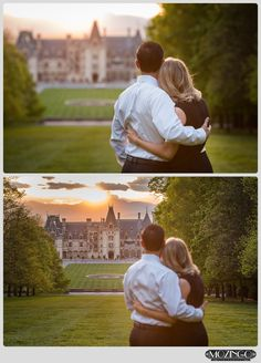 Castle photos / Biltmore Estate engagement photography / spring engagement photos / she said yes / Biltmore wedding photography / photos by: Mozingo Photography