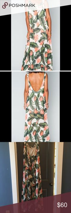 Show me your Mumu palm print maxi in a small Excellent condition. Worn once to a preschool graduation. Show Me Your MuMu Dresses Maxi