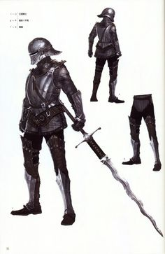 Royal Soldier set with greatsword. Wish the sword we got in game was as big as what they carry.