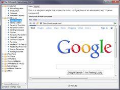 Control Java y Cross-platform Web Browser, Flash Player, HTML Editor, Multimedia Player and more. Para embeber Navegador en una App Java Swing