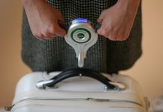 On Your Weigh Luggage Scale allows you to weigh your own bag so you know before you are slapped with fees.