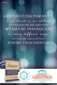 """It's Day 16 of 25 Days of Free Gifts! Get the ebook """"God's Success Formula"""" by Gloria FREE now! http://www.kcmblessings.com/"""