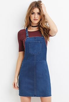 ISO Forever 21 Denim Overall Dress Interested in finding this exact dress or one that looks just like it. Size xs to small! Outfits For Teens, Summer Outfits, Girl Outfits, Casual Outfits, Cute Outfits, Fashion Outfits, Fashion Ideas, Fashion Tips, Fashion Trends